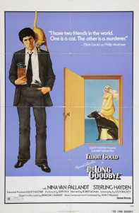 The Long Goodbye - il poster originale